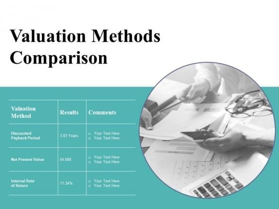 Valuation Methods Comparison Ppt PowerPoint Presentation Ideas Picture