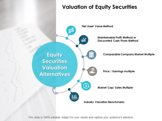 Valuation Of Equity Securities Ppt PowerPoint Presentation Inspiration Picture