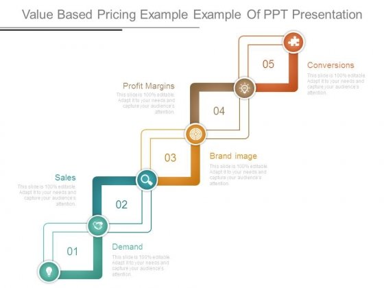 Value Based Pricing Example Example Of Ppt Presentation