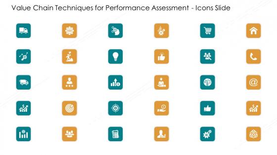 Value Chain Techniques For Performance Assessment Icons Slide Ppt Slides Introduction PDF