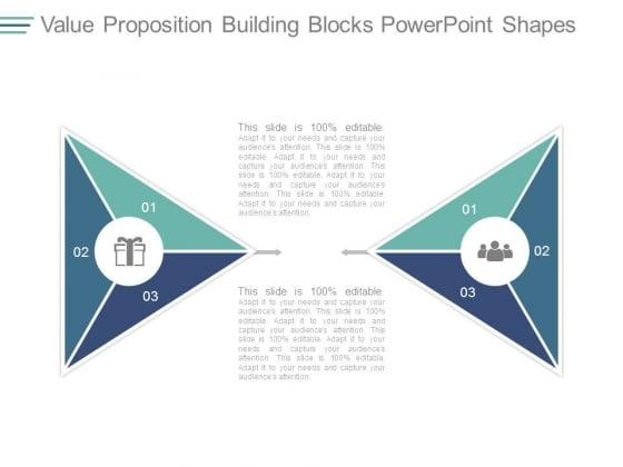 Value Proposition Building Blocks Powerpoint Shapes