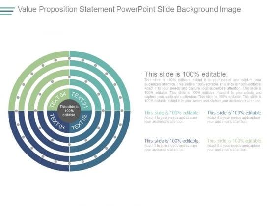 Value Proposition Statement Powerpoint Slide Background Image