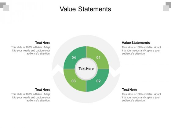Value Statements Ppt PowerPoint Presentation Summary Guidelines Cpb Pdf
