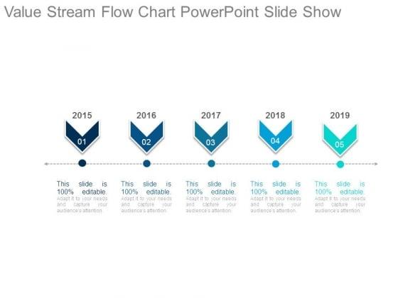 Value Stream Flow Chart Powerpoint Slide Show