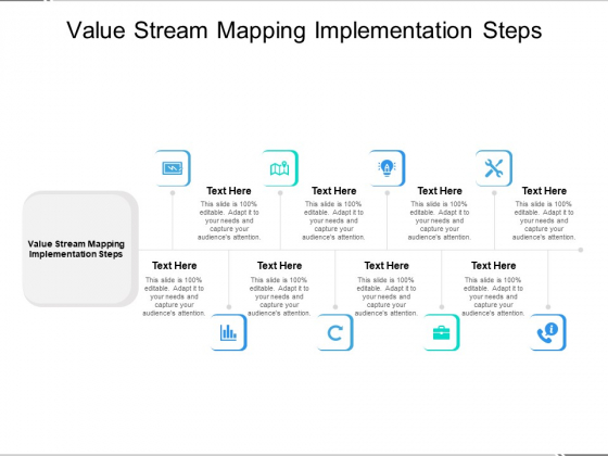 Value Stream Mapping Implementation Steps Ppt PowerPoint Presentation Summary Samples Cpb