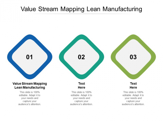 Value Stream Mapping Lean Manufacturing Ppt PowerPoint Presentation Model Templates Cpb