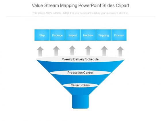 Value Stream Mapping Powerpoint Slides Clipart
