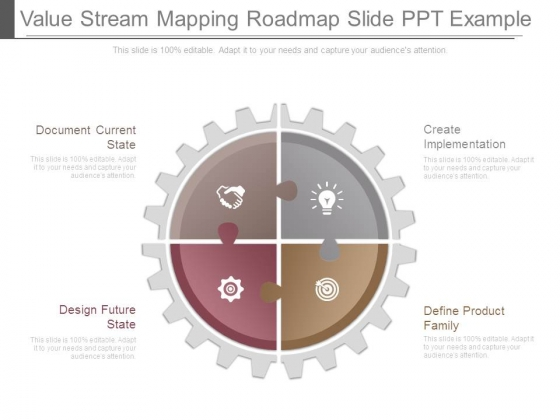 Value Stream Mapping Roadmap Slide Ppt Example