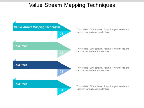 Value Stream Mapping Techniques Ppt PowerPoint Presentation Inspiration Slide Download Cpb