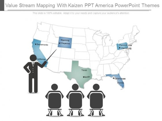 Value Stream Mapping With Kaizen Ppt America Powerpoint Themes