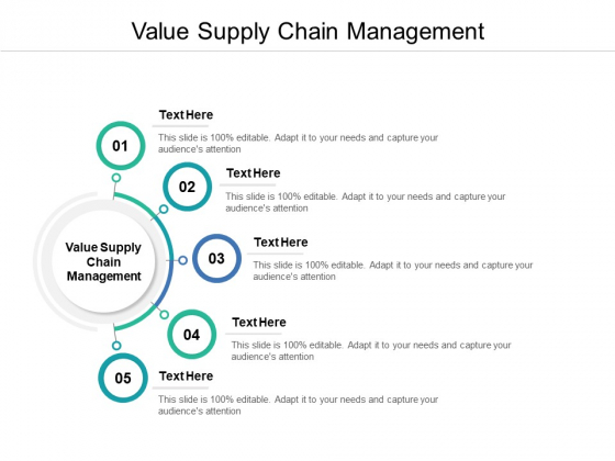 Value Supply Chain Management Ppt PowerPoint Presentation Visual Aids Professional Cpb