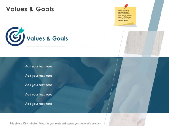 Values And Goals Arrow Ppt PowerPoint Presentation Infographic Template Maker