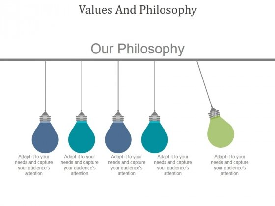 Values And Philosophy Ppt PowerPoint Presentation Styles