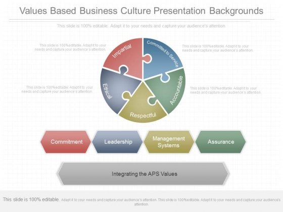 Values Based Business Culture Presentation Backgrounds