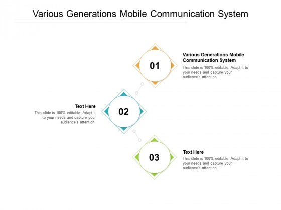 Various Generations Mobile Communication System Ppt PowerPoint Presentation Layouts Gridlines Cpb Pdf