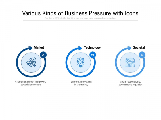 Various Kinds Of Business Pressure With Icons Ppt PowerPoint Presentation File Files PDF