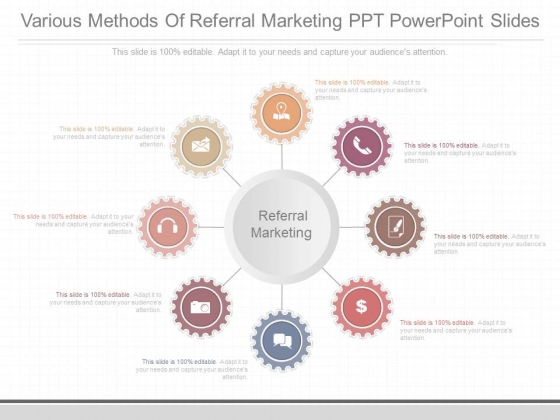 Various_Methods_Of_Referral_Marketing_Ppt_Powerpoint_Slides_1