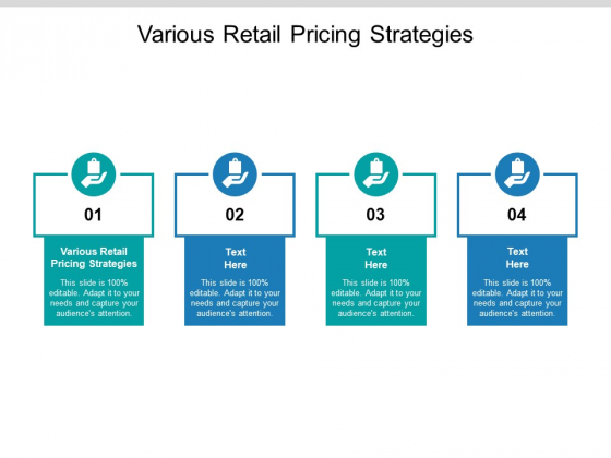 Various Retail Pricing Strategies Ppt PowerPoint Presentation Example Cpb