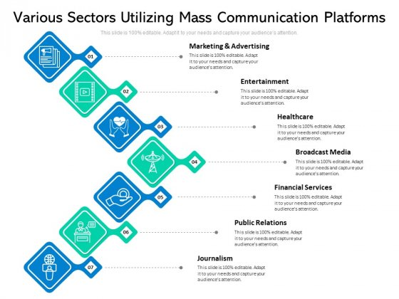 Various Sectors Utilizing Mass Communication Platforms Ppt PowerPoint Presentation File Inspiration PDF