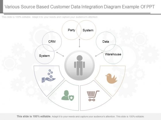 Various Source Based Customer Data Integration Diagram Example Of Ppt