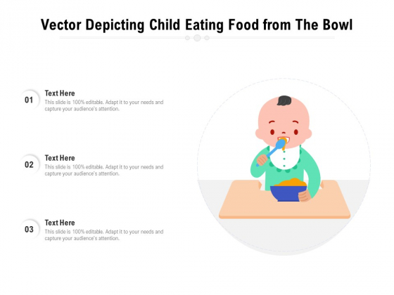 Vector_Depicting_Child_Eating_Food_From_The_Bowl_Ppt_PowerPoint_Presentation_Icon_Diagrams_PDF_Slide_1