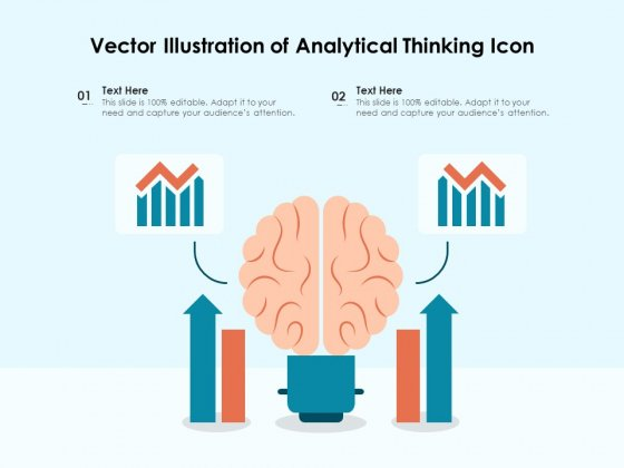 Vector Illustration Of Analytical Thinking Icon Ppt PowerPoint Presentation File Design Inspiration PDF