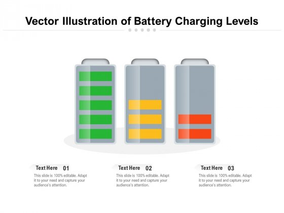 Vector Illustration Of Battery Charging Levels Ppt PowerPoint Presentation Ideas Themes PDF