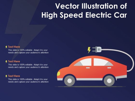 Vector_Illustration_Of_High_Speed_Electric_Car_Ppt_PowerPoint_Presentation_Gallery_Example_Topics_Slide_1