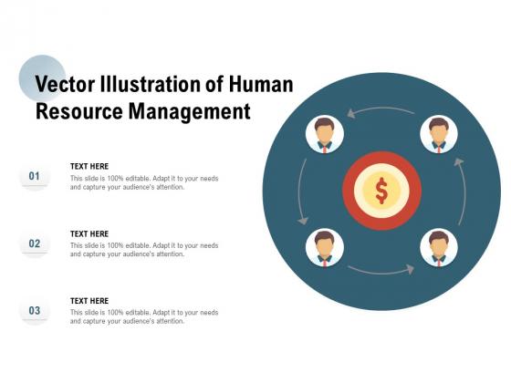 Vector Illustration Of Human Resource Management Ppt PowerPoint Presentation Portfolio Graphics Example
