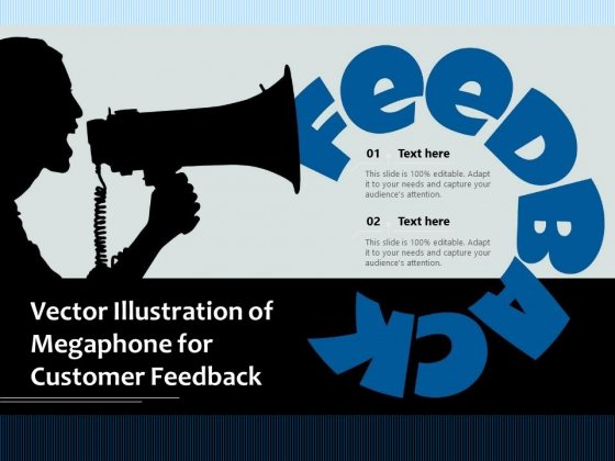 Vector Illustration Of Megaphone For Customer Feedback Ppt PowerPoint Presentation Icon Portrait PDF