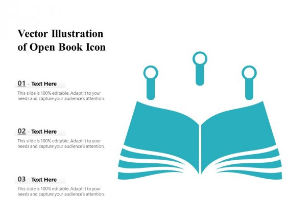 Vector Illustration Of Open Book Icon Ppt PowerPoint Presentation Inspiration Show PDF