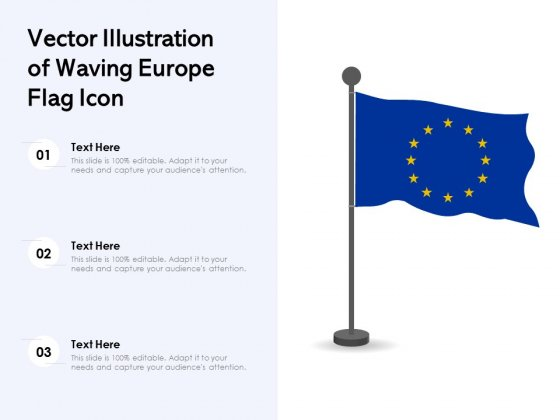 Vector_Illustration_Of_Waving_Europe_Flag_Icon_Ppt_PowerPoint_Presentation_Model_Slides_PDF_Slide_1