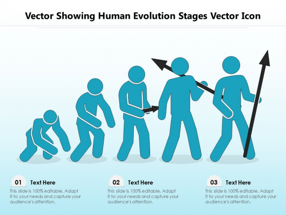 Vector Showing Human Evolution Stages Vector Icon Ppt PowerPoint Presentation Icon Objects PDF