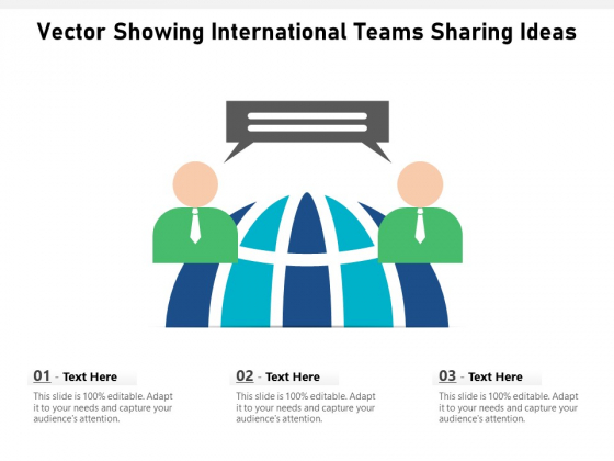 Vector Showing International Teams Sharing Ideas Ppt PowerPoint Presentation File Styles PDF