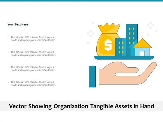 Vector Showing Organization Tangible Assets In Hand Ppt PowerPoint Presentation Inspiration PDF