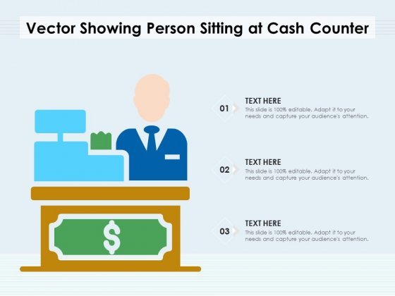 Vector_Showing_Person_Sitting_At_Cash_Counter_Ppt_PowerPoint_Presentation_Infographics_Topics_PDF_Slide_1