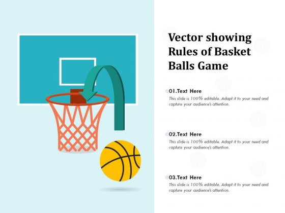 Vector Showing Rules Of Basket Balls Game Ppt PowerPoint Presentation Outline Examples PDF