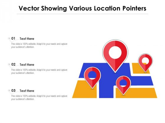 Vector Showing Various Location Pointers Ppt PowerPoint Presentation Icon Examples PDF