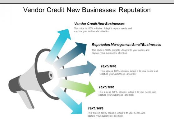 Vendor Credit New Businesses Reputation Management Small Businesses Ppt PowerPoint Presentation Slides Skills