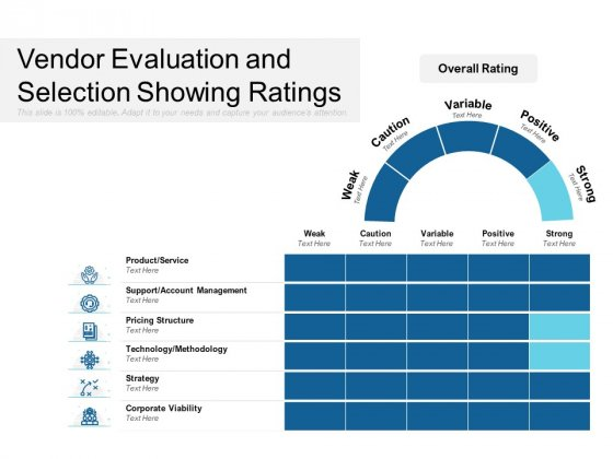 Vendor Evaluation And Selection Showing Ratings Ppt PowerPoint Presentation Graphics PDF