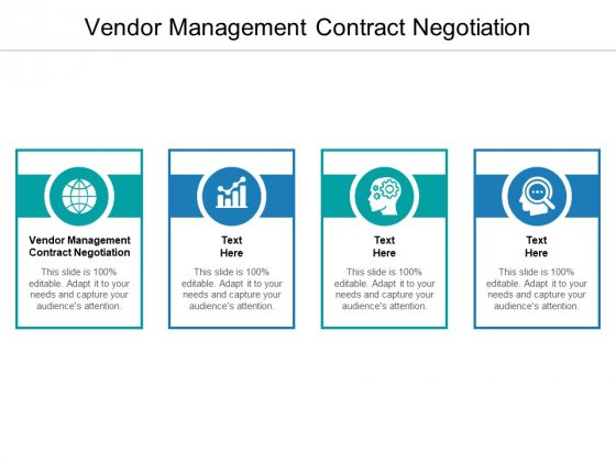 Vendor Management Contract Negotiation Ppt PowerPoint Presentation Show Example Cpb