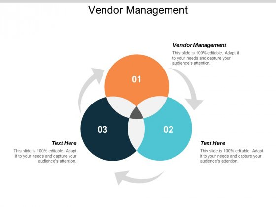 Vendor Management Ppt PowerPoint Presentation Infographic Template Topics Cpb
