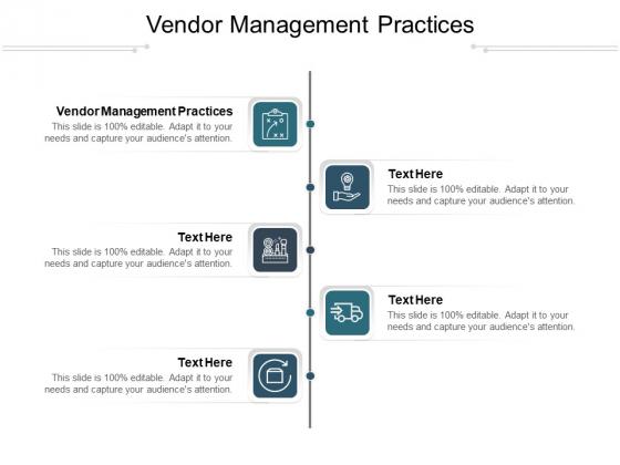 Vendor Management Practices Ppt PowerPoint Presentation Outline Tips Cpb Pdf