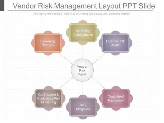 Vendor Risk Management Layout Ppt Slide