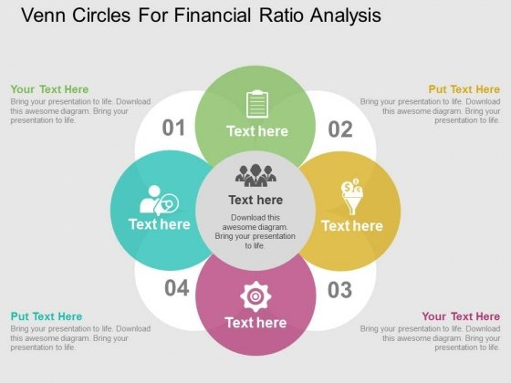 Venn Circles For Financial Ratio Analysis Powerpoint Templates