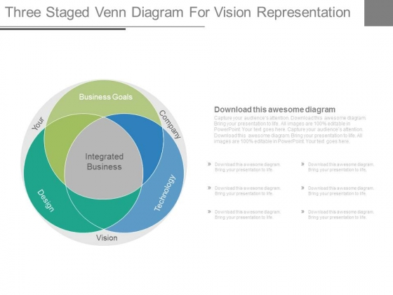 Venn Diagram For Company Vision Powerpoint Slides