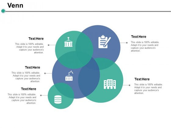 Venn With Five Circles Ppt PowerPoint Presentation Pictures Templates