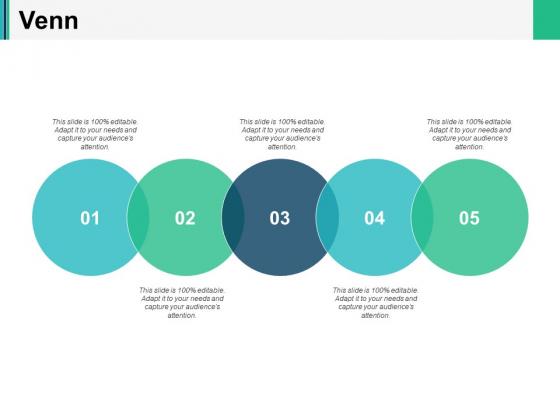Venn With Five Circles Ppt PowerPoint Presentation Slides Format