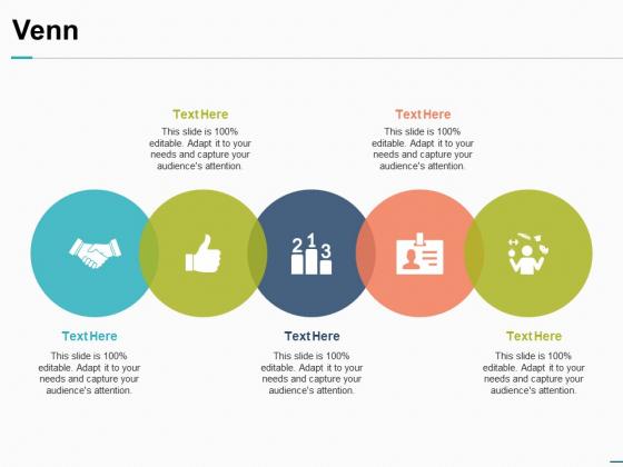 Venn With Five Circles Process Ppt PowerPoint Presentation Portfolio Templates
