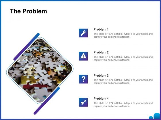 Venture Capital Funding For Firms The Problem Ppt Summary Slide PDF